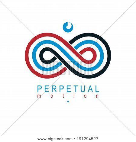Endless Infinity Loop vector symbol conceptual logo special design.