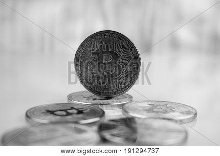 Black Bitcoin Coin