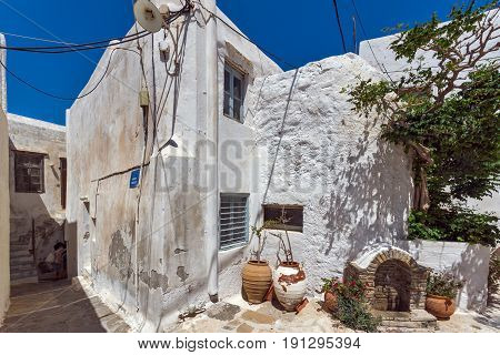 Old town of Chora town, Naxos Island, Cyclades, Greece