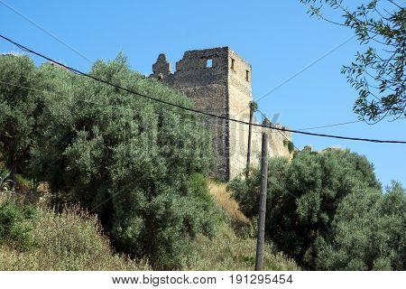 LEFKADA TOWN, GREECE JULY 16, 2014: Old Fortress Lefkada town, Lefkada, Ionian Islands, Greece