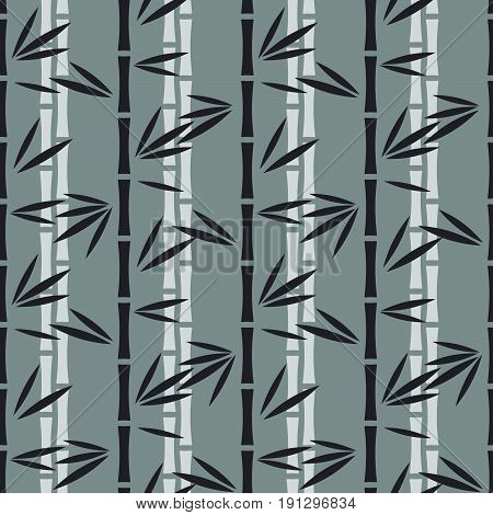 Abstract bamboo pattern, Seamless vector illustration with bamboo stalks