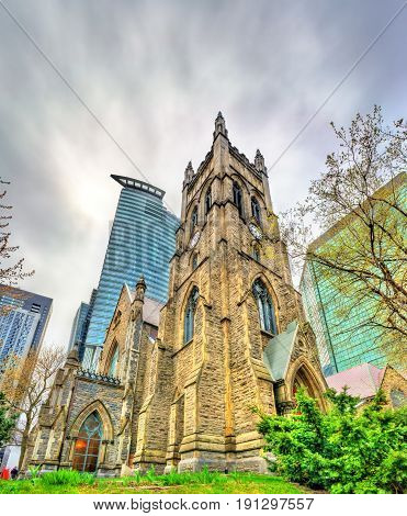St. George's Anglican Church in Montreal - Quebec, Canada