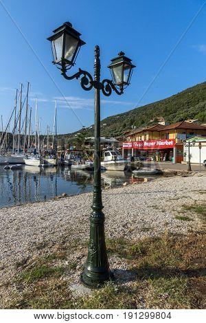 SIVOTA, LEFKADA, GREECE JULY 17, 2014: Panorama of Village of Sivota, Lefkada, Ionian Islands, Greece