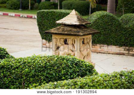 Stone lanterns in the garden lamp stone