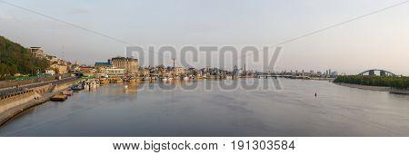 View Of The Dnieper Embankment In Kiev