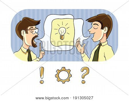 Two people in conversation give birth to a new idea