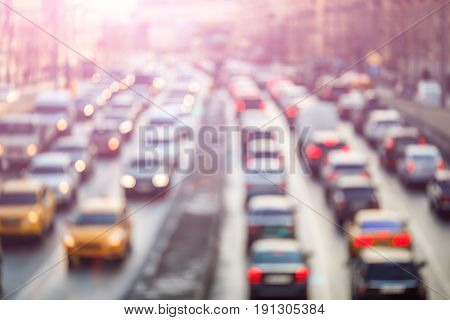 Photo of traveling cars on city roads by day