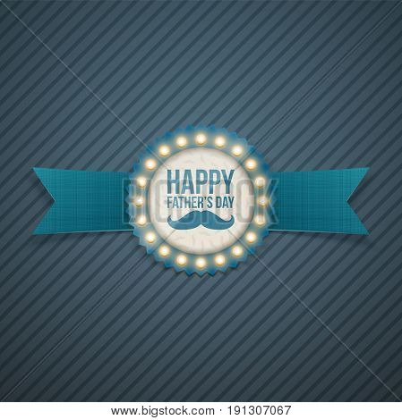 Happy Fathers Day festive Signage Template. Vector Illustration