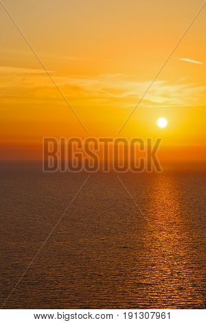 In Santorini    Greece Sunset   The  Red Sea