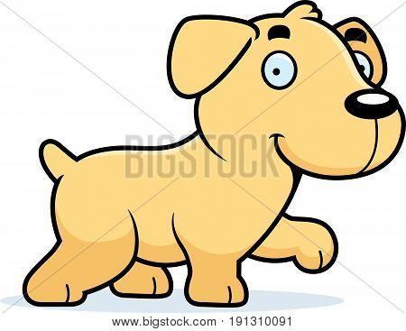 Cartoon Labrador Walking