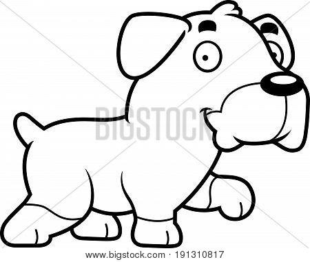 Cartoon Rottweiler Walking