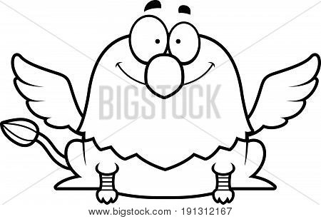 Smiling Cartoon Griffin