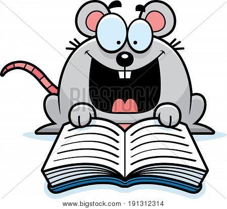 Cartoon Mouse Reading
