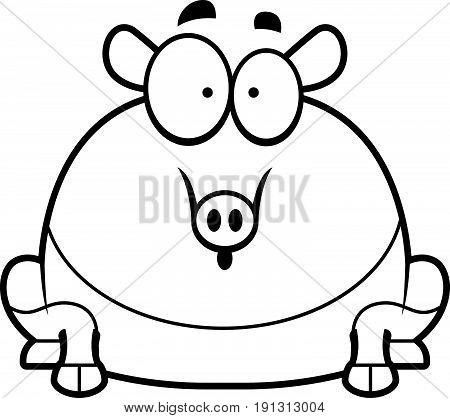 Surprised Cartoon Tapir