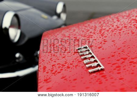 RADOLFZELL AM BODENSEE, GERMANY -  SEP 28: Close-up of a sportscar at a car rally September 28, 2012, Lake Constance region.