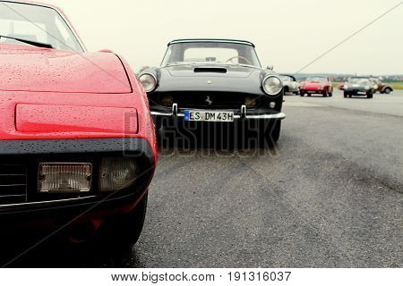RADOLFZELL AM BODENSEE, GERMANY -  SEP 28: Two vintage Sportscars at a car rally September 28, 2012, Lake Constance region.