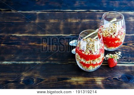 Healthy Breakfast Glasses