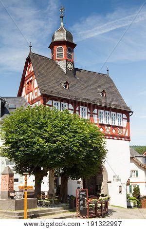 Half-timbered civic hall of Koenigstein Hesse Germany