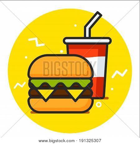 Fast Food Vector Icon design illustration graphic