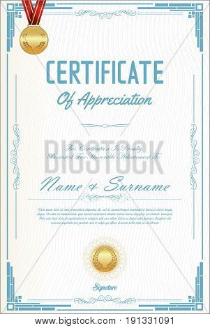 Certificate Or Diploma Template 05.eps