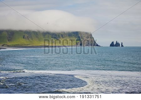 beautiful seascape of iceland. must visit tourist place