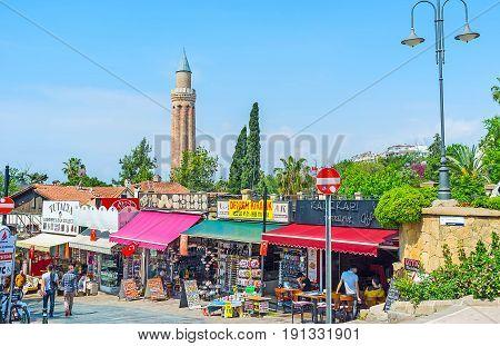 Tourist Bazaar In Antalya