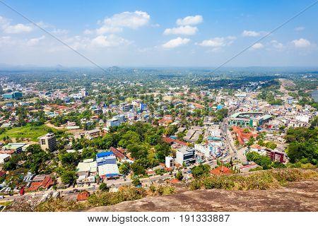 Kurunegala City Aerial Panoramic View