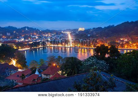 Kandy Lake And City
