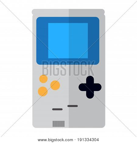 Isolated portable videogame console on a white background, Vector illustration