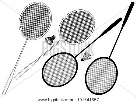 Badminton Racket And Shuttlec...