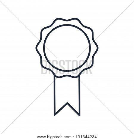 rosette prize win medal ribbon decoration vector illustration