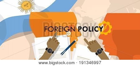 Argentina US foreign policy diplomacy international relations between country in the world concept vector