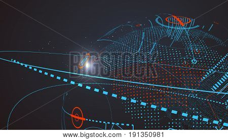 Futuristic globalization interface a sense of science and technology abstract graphics.