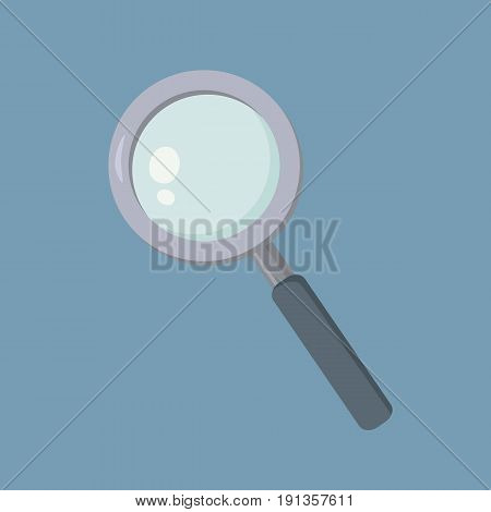 Magnifying Glass Loupe Zoom Lens School Supplies Vector Illustration