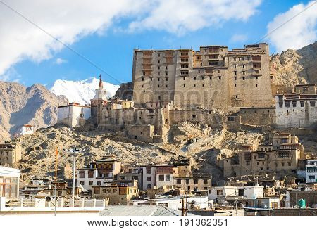 Leh Palace it is a former royal palace overlooking the Ladakhi Himalayan town of Leh in Ladakh Jammu India