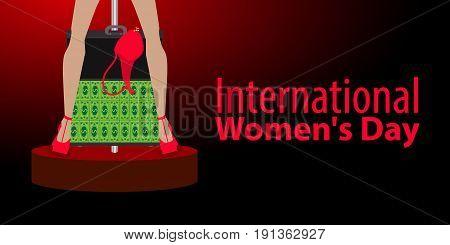 International Women's Day. Feminism. Financial