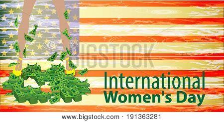 International Women's Day. Feminism. Feet