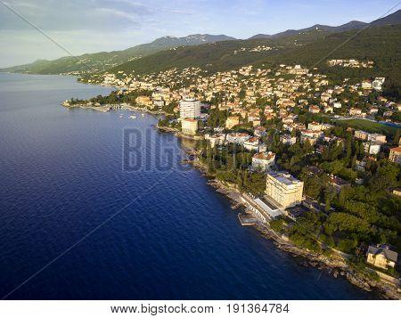 Aerial View Of Opatija, Croatia