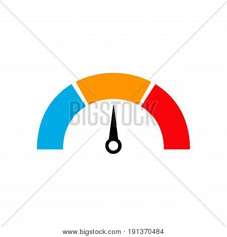 cholesterol meter test speedometer. health comcept. vector