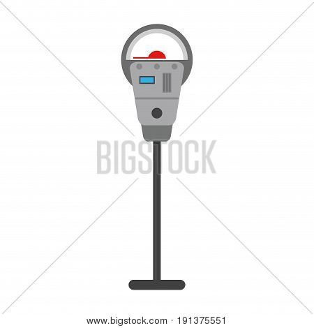 meter parking sign icon image vector illustration design