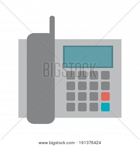 landline telephone office supplies related icon image vector illustration design