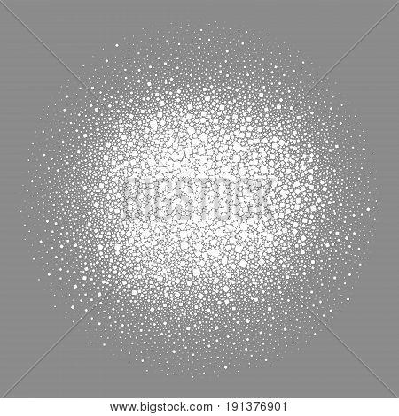 Salt. Vector illustration. White salt on black background
