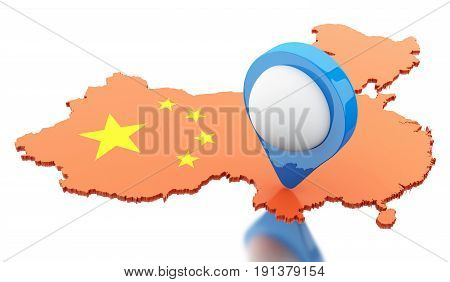 3D China Map With Pointer