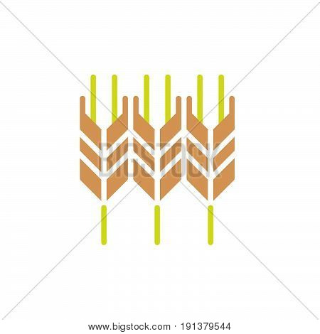 Wheat ear icon vector filled flat sign solid colorful pictogram. Symbol logo illustration