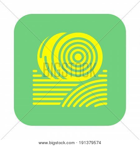 Bales of hay icon vector filled flat sign solid colorful pictogram. Symbol logo illustration