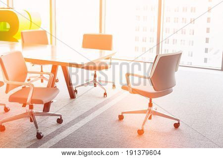 Office chairs at conference table