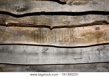aged wooden wall - abstract background