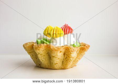 Sweet Mushrooms. A Creamy Air Cake In A Basket