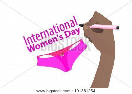 Day Female. Feminism. Usa. Hand Draw Pen