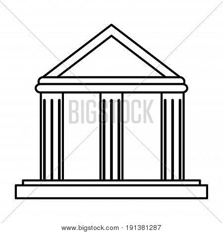 ancient greek building icon image vector illustration design  black line